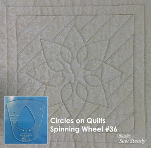 Sew, Steady, Westalee, COQSPW36, Spinning, Wheel, #36, Ruler, Template, Circles, Quilts, free, motion, quilting, no, long, arm