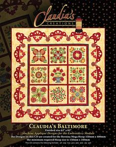 Claudia's Creations CB60980 Claudia's Baltimore Embroidery Design Pack