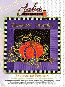 Claudia's Creations EP60981 Enchanted Pumpkin Embroidery Design Pack CD