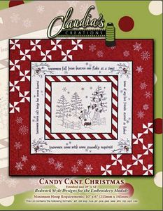 Claudia's Creations CC60986 Candy Cane Christmas Embroidery Design Pack CD