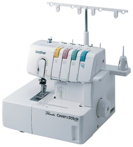 "Brother, 2340CV, 2 or 3-Needle, 3 & 6 mm, Best Buy, COVERSTITCH-ONLY Machine, Differential Feed, Color Coded, Lay In THREAD Tensions, Brother 2340CV, $400 6-Coverstitch Guide Feet & Case, 2&3 Needle 3&6mm 1/4"" Cover Hem & Chain Stitch Machine, Differential Feed, Length & Width Color Coded"