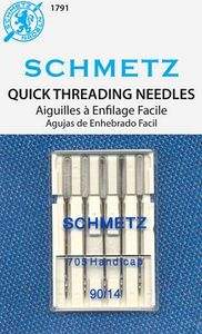 Schmetz S-1791 130/705H Handicap Quick Self Threading Needles 5Pk, Size 14/90