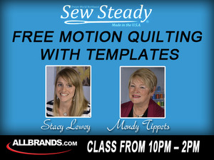 Free, Motion, Quilting, Ruler, Foot, with, Templates, Class, by, Stacy, Lewey, and, Mendy, Tippets, 10am, Nov, 8th, in, our, San, Antonio, TX West, Avenue, Retail, Store