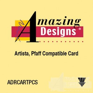 Amazing Designs Max Blank Rewritable Embroidery Card, Format For Artista .art and Pfaff .pcs Embroidery Machine Card Ports