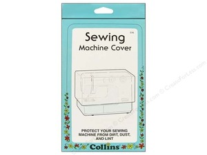 Collins 45C Sewing Machine Dust Cover Clear 9in H x 15 1/2in W x 5 1/2in D