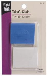 Dritz 642-66, Tailors Chalk, Blue and White, 2ct for Marking Fabrics