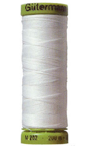 Gutermann 10-5019 White Elastic Thread, 11Yds for Shirring, Gathering*