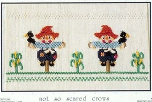 Little Memories Not So Scared Crows LM73 Smocking Plate
