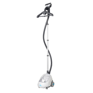 Steamfast SF520 Upright Steamer, Fabrics, Garments, Upholstery, Drapery, Foldable Hanger, Fabric Brush, Insulated Hose, Telescoping Stand, Cord Wrap