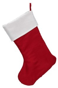 Exquisite 16669SR Traditional Christmas Stocking, Scarlet Red and White