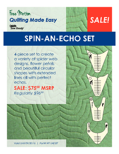 Sew Steady WT-SAESET Westalee Spin-An-Echo 4 Templates Set: #1,6,14,16