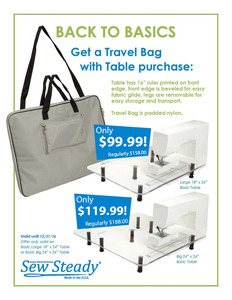 Sew, Steady, Westalee, Table, Travel, Bag, Back, Basic, Package