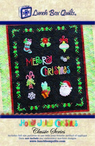 Lunch Box Quilts QP-HJ-DD Holly Jolly Christmas Classic Applique Quilt Pattern on CD