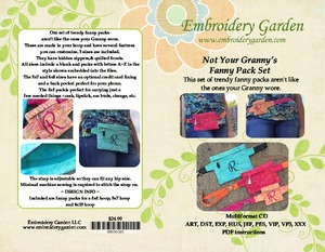 Embroidery Garden Not Your Granny's Fanny Pack Set Embroidery Designs on CD