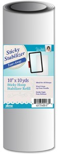 DIME SHS0010 Sticky Hoop Tearaway Embroidery Stabilizer Backing, 10 Inch x 10 Yards