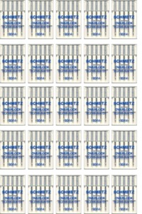 Schmetz ELX705SUKCF 100 Medium Ball Point Chrome Finish Needles, Choose One Size 80/12 or 90/14* for SergersCF