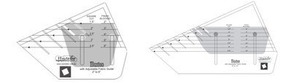 Sew Steady Westalee Illusion Adjustable Locking Rulers 2-6 or 6-12