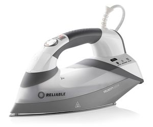 Reliable Velocity 200IR Continuous Steam Sensor Touch Iron 1800W, Sewers Bypass for 8 Minute Auto Shut-Off, 360º Swivel 8.2' Cord, AntiScale Cartridge