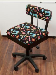 79652: Arrow H7013B Hydraulic Chair, Underseat Storage, Riley Blake Fabric
