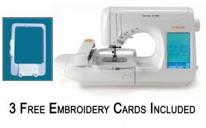 """Singer Quantum XL 1000 Best Buy Sewing & 6X10"""" Embroidery  Machine XL1000, Hoop-It-All Hat Hoop & 3 Free Embroidery Cards"""