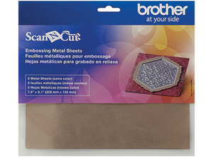 Brother CAEBSBMS1 Embossing Brass Metal Sheets for ScanNCut