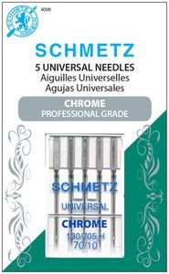 Schmetz, S-4008, Chrome, Universal, 5, pack, 130, 705, H, Size, 70, 10, strong, durable