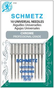 Schmetz, S-4132, Chrome, Professional, Grade, Universal, 10, pack, 130, 705, H, Size, 70, 10, strong, durable