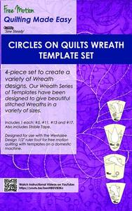 Sew Steady Westalee WT-COQWSET Circles on Quilts Wreath Templates 4 Piece Set with Stable Tape +Table Runner Project