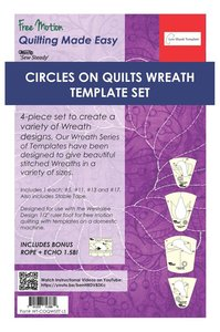 Sew, Steady, Westalee, WT-COQWSET-LS, Circles, on, Quilts, Wreath, Template, Set
