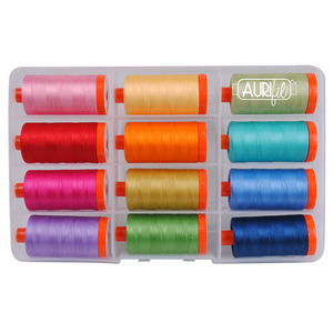 Aurifil CW50PQC12 Piece & Quilt Collection: Colors by Christa Watson Quilts, 12 Large Spools x 1095 Yards of 50wt Cotton Thread