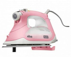 Oliso TG1600P Pink Pro Smart Iron Limited Edition, 30 Minute Auto Off, Stainless Steel Soleplate, 12´ Cord, Auto Lift Legs! +Mary Ellen Starchnohtin