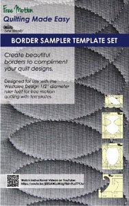 Westalee WT-BS Borders Sampler 5pc Template Set, Continuous Rope & Echo 2.5C, Continuous Borders 2-3 and CBL3 2-3, Continuous Heart Borders 2pc Set