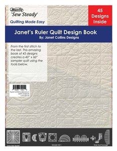 80280: Westalee Ruler Quilt Design EBook, 51 Pages, 45 Designs by Janet Collins