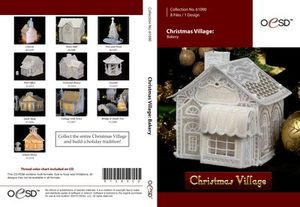 OESD Christmas Village Freestanding Lace Bakery CD