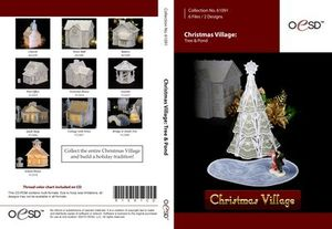 OESD Christmas Village Freestanding Lace Tree & Pond CD