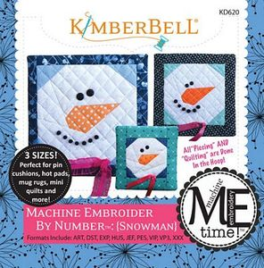 KimberBell KD620 Snowman: Machine Embroidery by Number