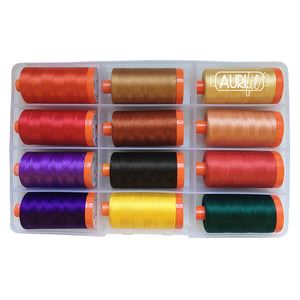 Aurifil CG50GE12 Glowing Embers Thread Collection by Cheri Good Quilt Design, 12 Large Spools 50wt Cotton