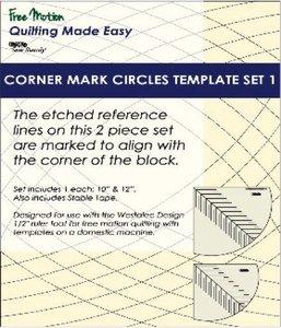 Sew Steady WT-CMC-1 Westalee Corner Mark Circles Template Set 1 - 2 Piece Set