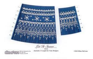 Ellen McCarn EM10232 Let It Snow Smocking Plate