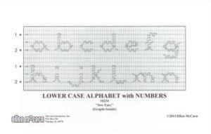 Ellen McCarn EM10234 Lower Case Alphabet Smocking Plate