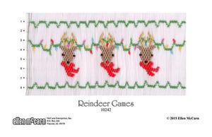Ellen McCarn EM10242 Reindeer Games Smocking Plate