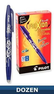 Frixion FX7BLU Erasable Gel Pen .7mm Ball Point Marking Tool, Blue Ink 12/bx