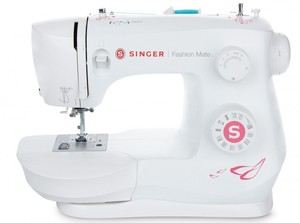 Singer 3333 Fashion Mate 23 Stitch Freearm Mechanical Sewing Machine, Top Bobbin, Threader, Buttonhole, Stitch Length Adjust, LED Light, Metal Frame