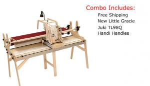 "NEW ""Little Gracie"" II Grace Machine Quilter Frame, Juki TL 98Q Quilting Machine & Handi Handles 3-Way Control Box - Crib/Queen Sizes Only"