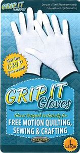 Sullivans 48666 Grip It Gloves- Large, for Free Motion Quilting, Sewing, Crafting