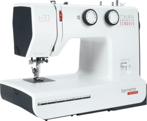 Bernette 33, 30-Stitch Mechanical Sewing Machine, Buttonhole, Needle Threader, Swiss Design
