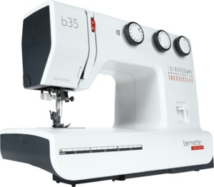 Bernette B35, 37-Stitch Mechanical Sewing Machine, Buttonhole, Needle Threader, Swiss Design