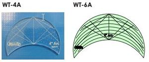 82234: Westalee WT-A Westalee Arcs Templates Choose from 6 sizes