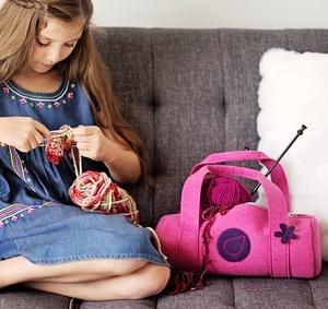 Bluefig University Learn to Sew Kit: Li'l Duffle Bag Lunar Grey