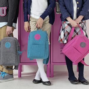 Bluefig BLRKPB Li'l Ruck School Backpack Tote Bag Learn to Sew Kit Peacock Blue